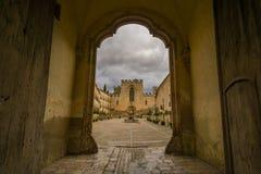 Sikt av kloster av Santes Creus Fotografering för Bildbyråer