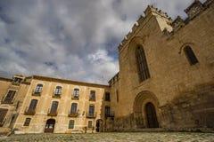 Sikt av kloster av Santes Creus Arkivbilder