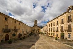 Sikt av kloster av Santes Creus Royaltyfria Foton