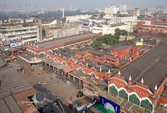 Sikt av Kolkata och den nya marknaden, Kolkata, Indien Royaltyfria Bilder