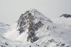 Sikt av korkade alpes för snö, dolomites i Italien Landskap Arkivfoto