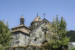 Sikt av korsen av den runda kupolen av templet av Gregory i Haghpat Royaltyfri Foto
