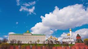 Sikt av Kreml i Moskva stock video