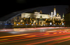 Sikt av Kreml i Moskva Royaltyfria Foton