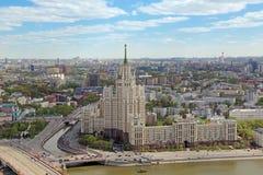 Sikt av Kreml och Moskvafloden Royaltyfria Foton