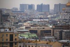 Sikt av Kreml och Moskvafloden Royaltyfri Fotografi