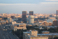 Sikt av Kreml och Moskvafloden Arkivfoto