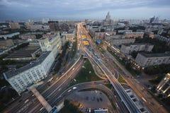 Sikt av Kreml och Moskvafloden Arkivbild