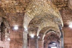 Sikt av Kroatien Härlig stadssplittring diocletian slott Royaltyfria Bilder