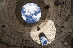Sikt av Kroatien Härlig stadssplittring diocletian slott Fotografering för Bildbyråer