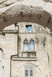 Sikt av Kroatien Härlig stadssplittring kroatiskt paradis diocletian slott Royaltyfri Fotografi