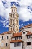 Sikt av Kroatien Härlig stadssplittring kroatiskt paradis diocletian slott Royaltyfri Foto