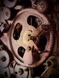 Sikt av kugghjul från gammal mekanism Arkivfoton