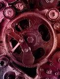 Sikt av kugghjul från gammal mekanism Royaltyfri Bild