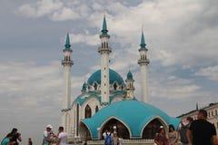 Sikt av Kulen Sharif Mosque i Kazan arkivbild