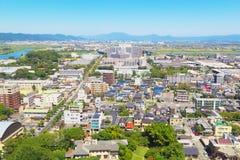 Sikt av Kurume City Arkivfoton