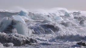 Sikt av kusten av Island Andreev stock video