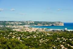 Sikt av kusten av Javea Royaltyfri Foto