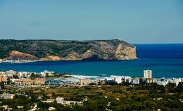 Sikt av kusten av Javea Fotografering för Bildbyråer