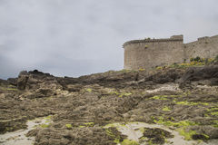 Sikt av kusten från helgonmalo Royaltyfri Fotografi