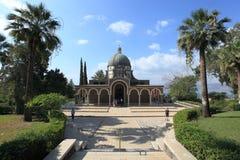 Sikt av kyrkan av saligheterna, Israel Royaltyfria Bilder