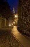 Sikt av kyrkan för St. Olavs, Tallinn Royaltyfria Foton