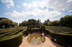 Sikt av labyrinten i Barcelona Royaltyfria Foton