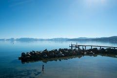 Sikt av Lake Tahoe Royaltyfria Foton
