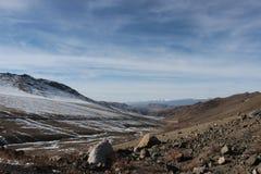 Sikt av landskapet i Kirgizistan Arkivfoton