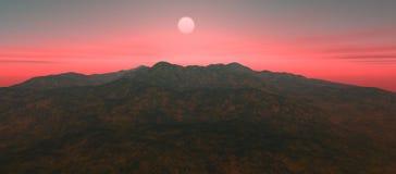 Sikt av landskapet med det steniga berget Arkivfoto