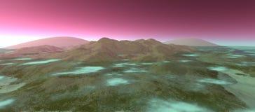 Sikt av landskapet med det steniga berget Arkivfoton