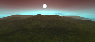 Sikt av landskapet med det steniga berget Royaltyfria Foton
