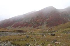 Sikt av landskapet på berget royaltyfria bilder