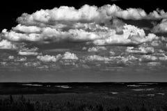 Sikt av landskapet, Vysocina region V Royaltyfri Foto