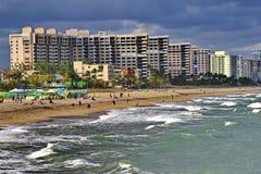 Sikt av Lauderdale vid havet Florida Arkivbild