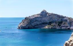 Sikt av laxen - delfin i Krimet royaltyfria foton