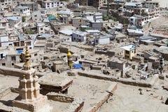 Sikt av Leh, Indien Fotografering för Bildbyråer