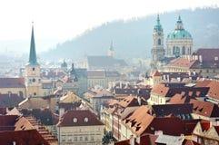Sikt av Lesser Town, Prague Arkivbild