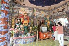 Sikt av Linh Phuoc Pagoda Fotografering för Bildbyråer