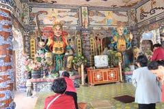 Sikt av Linh Phuoc Pagoda Royaltyfria Bilder