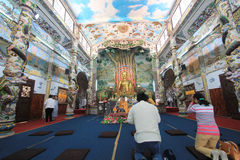 Sikt av Linh Phuoc Pagoda Royaltyfri Fotografi