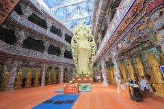 Sikt av Linh Phuoc Pagoda Arkivfoto