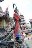 Sikt av Linh Phuoc Pagoda i Da-Lat Arkivfoto