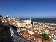 Sikt av Lissabon, Portugal royaltyfria bilder