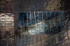 Sikt av London en arkitektonisk affärsbyggnad arkivfoton
