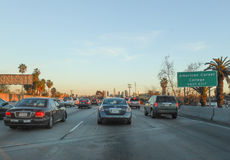 Sikt av Los Angeles Kalifornien Royaltyfri Bild