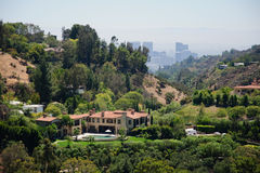 Sikt av Losa Angeles Arkivbild