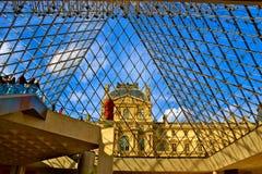 Sikt av Louvre Royaltyfri Foto