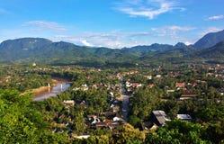 Sikt av Luang Prabang, Laos arkivfoton