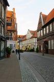 Sikt av Luneburg, Tyskland Arkivfoton